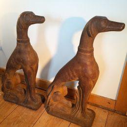Greyhound Concrete Sculptures – A Pair