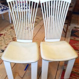 Pair of Mid Century Straight Chairs