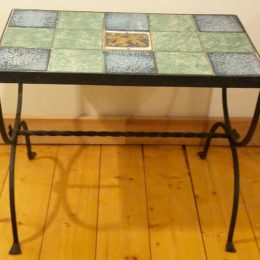 Tile Top Iron Stand