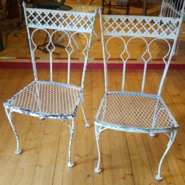 Victorian Iron Pair Straight Chairs