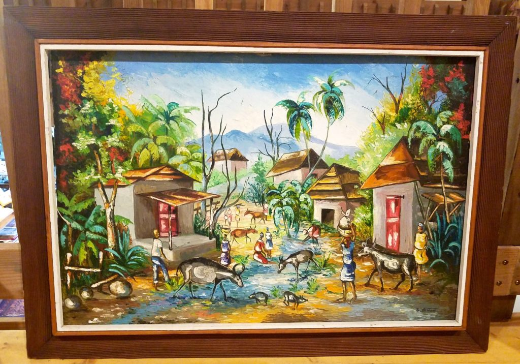 Large Caribbean style Village Scene