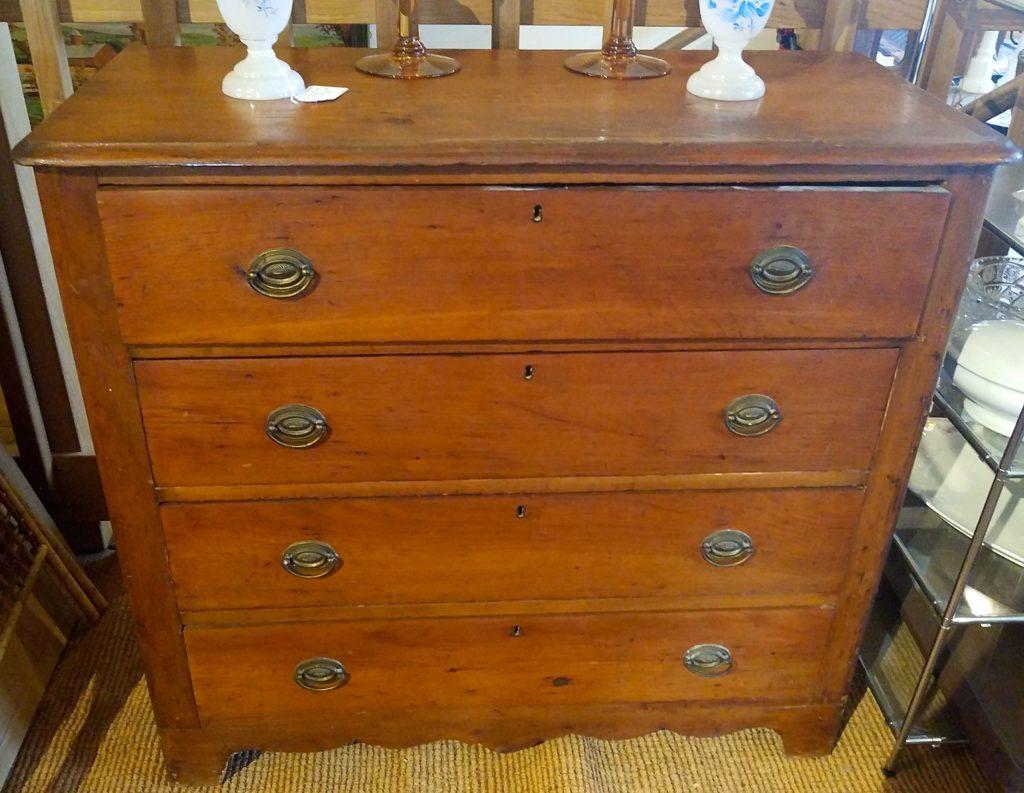 19th C 4-Drawer Pine Dresser