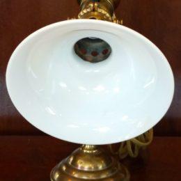 Late 1800's Brass w/Milkglass Globe Wall Lamp