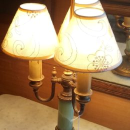 Three Arm Brass Lamp
