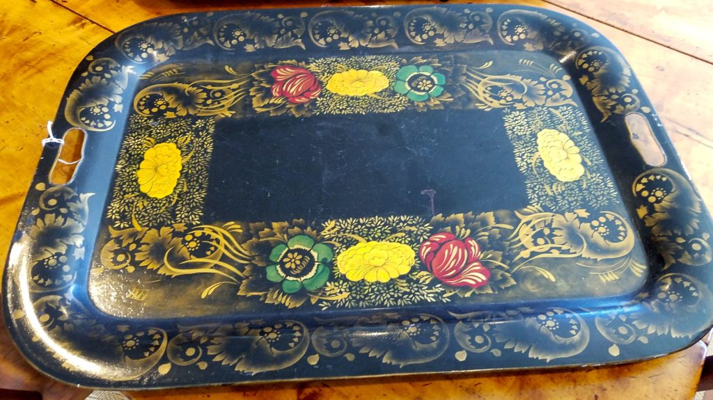 Large 19th C. Toleware Tray