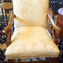 Pair of White Upholstered Chairs