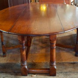 Oak Oval Irish Wake Table